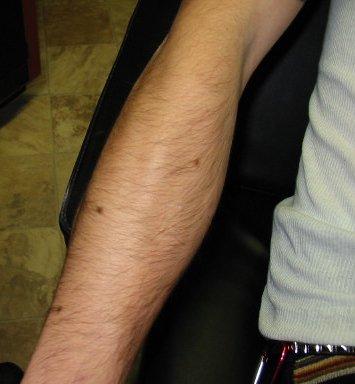 Big hairy arm thread smoking