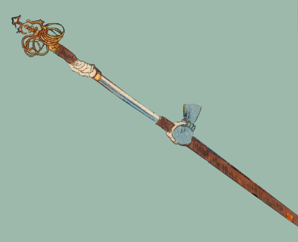 The Tools of a Wandering Priest  Toyokuni_III_shakujo_sword4b